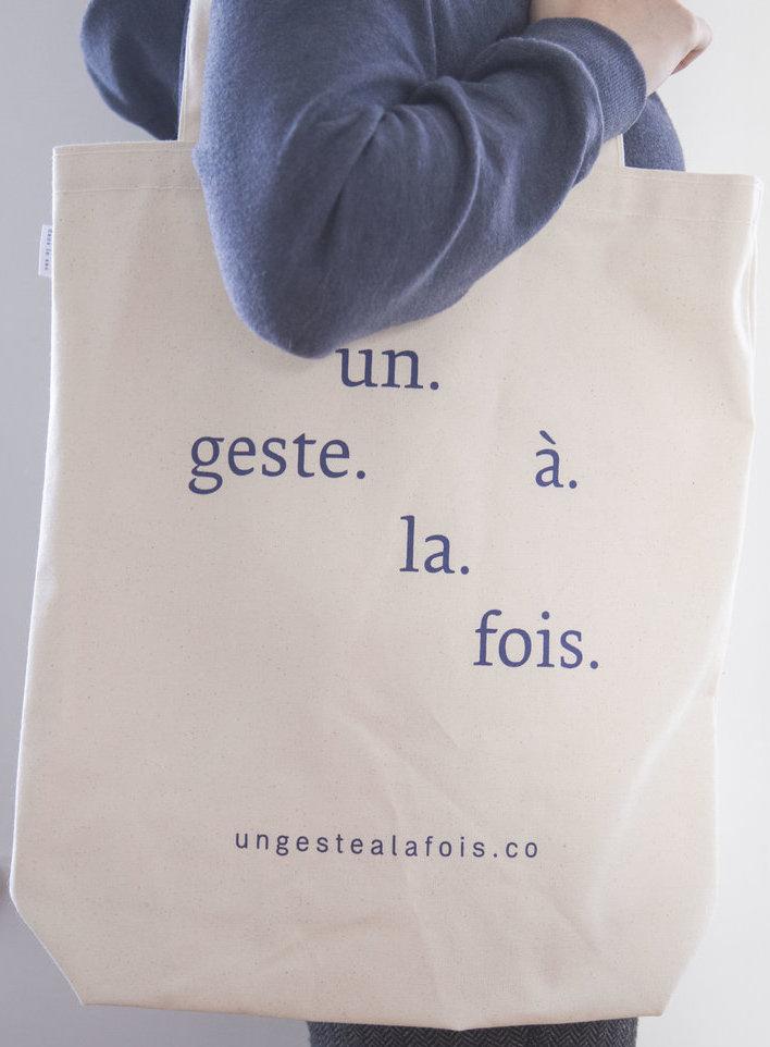 sac en coton naturel Un geste à la fois