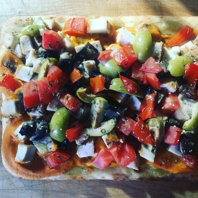 Pizza sans fromage Trouvez la recette sur httpungestealafoisco nocheese nocheesepleasehellip